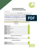 Goethe Zertifikate Anerkennung Gz c1