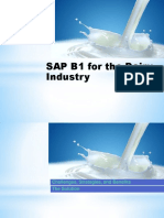 Sap b1 for Dairy Industry