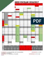Calendário Escolar Ano Letivo 2016-2017