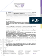 Consentimiento Informado de Endodoncia