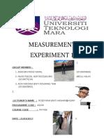 lab report physics experiment 1 measurement