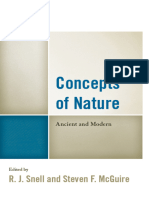 Concepts of Nature Ancient and Modern