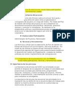 Importancia de Proceso, Involucrados y Tecnicas