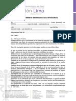 Consentimiento Informado de Ortodoncia