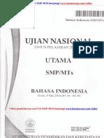 Download Soal Bahasa Indonesia SMP 2016 Dan Pembahasan