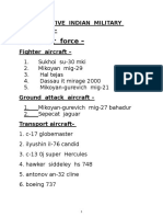 List of Active Indian Military Aircrafts 2