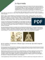 Ayurveda Chikithsa -Mental Disorder