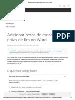 Adicionar Notas de Rodapé e Notas de Fim No Word - Word