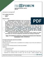 Módulo de Direito Processual Civil- Procedimentos Especiais e Ordem Dos Processos Nos Tribunais - Daniel Assumpção - Aula 13