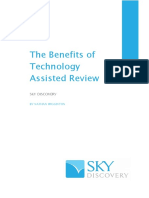 The Benefits of Technology Assisted Review
