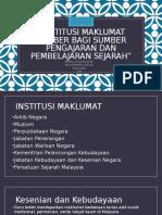 Institusi Maklumat Sumber Bagi Sumber Pengajaran Dan