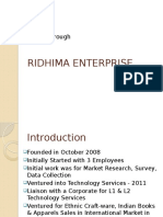 iRidhma Enterprise 2016-2017