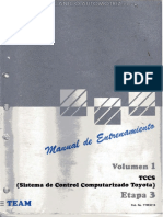 Manual Tccs Sistema Control Computarizado Toyota Electronico Efi Esa Isc Ecu Motor Inspeccion