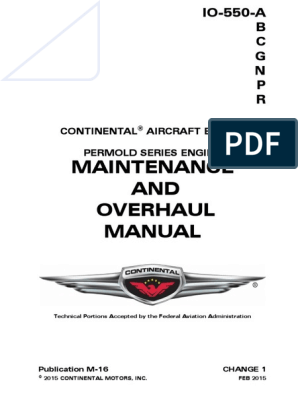 Continental aircraft engine  Maintenance and overhaul manual