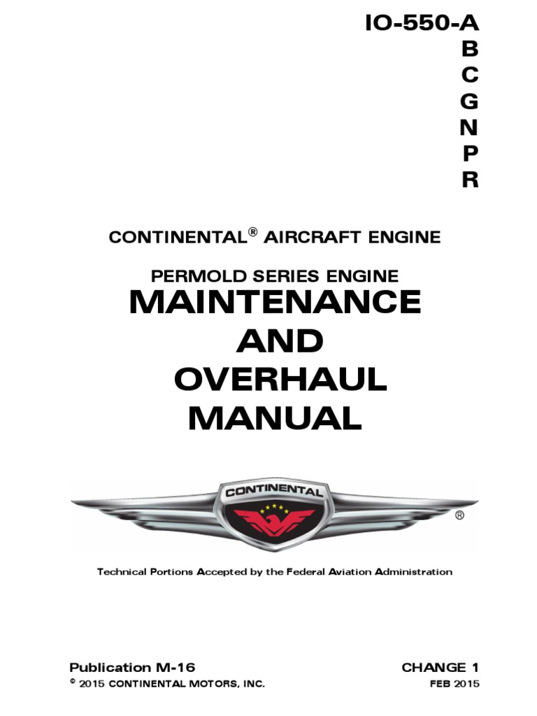 continental aircraft engine maintenance and overhaul manual rh es scribd com
