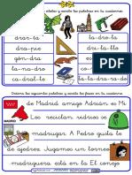 Ordenar Palabras y Frases Con Trabadas DR