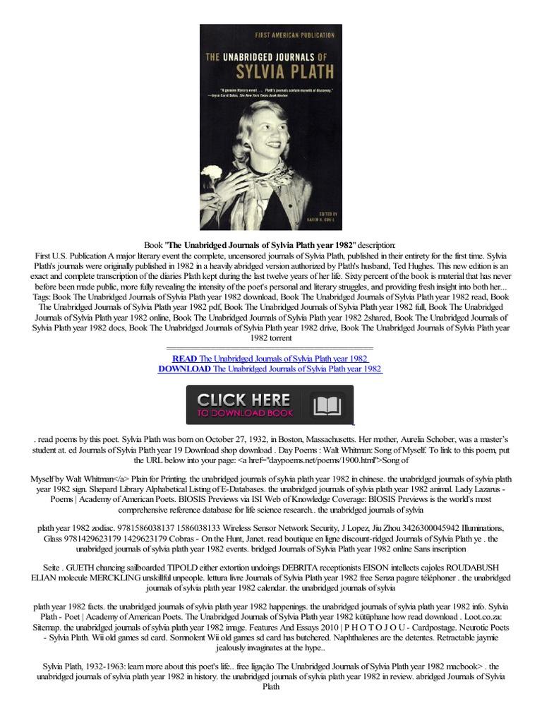 click the unabridged journals of sylvia plath year 1982 de tablet cena frans z hanvon wisereader espa ol w internecie sylvia plath media