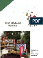 club kembang birthday party