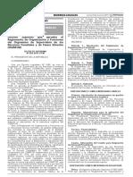 Decreto Supremo que aprueba el Reglamento de Organización y Funciones del Organismo de Supervisión de los Recursos Forestales y de Fauna Silvestre (OSINFOR)
