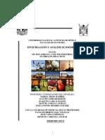 Investigacion y Analisis Economico