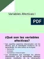 Variables Afectivas