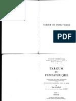 Roger Le Deaut, Targum Du Pentateuque I - Genese