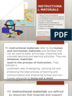 2 Nature of Instructional Materials