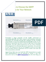 Know When to Choose the QSFP Transceivers for Your Network