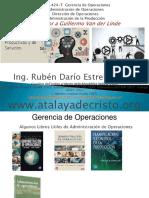 Gerencia de Operaciones -Unidad i - Conceptos Basicos