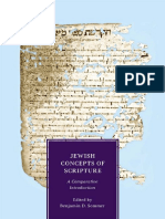 Sommer (Ed.) - Jewish Concepts of Scripture; A Comparative Introduction (2012)