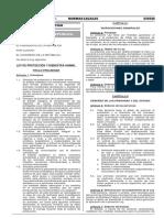 Ley de Protección y Bienestar Animal - Ley 30407