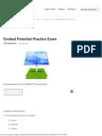 Evoked Potential Practice Exam - ProProfs Quiz
