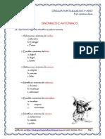 Sinónimos e Antónimos - Exercícios (Blog8 10-11)