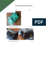 Lista de Componentes Electrónicos