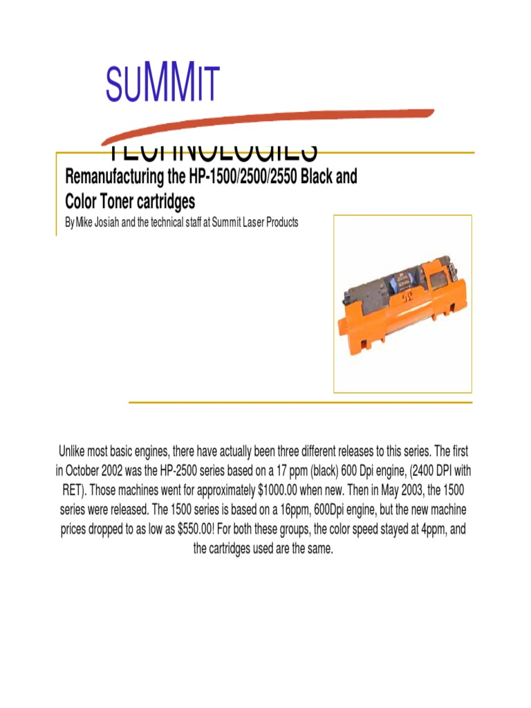 HP 2550 Rellenar Toner, Cambiar Chips Expert | Equipment | Manufactured  Goods