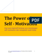 The Power of Self - Motivation