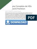 Faça Cópia Completa de HDs Com EaseUS Partition