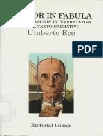 Lector in Fabula La Cooperación Interpretativa en El Texto Narrativo
