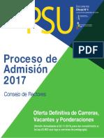 2017 16-09-22 Oferta Carreras Vacantes Ponderaciones