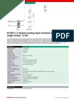 El3052 - 2 x Analog Input 4-20ma