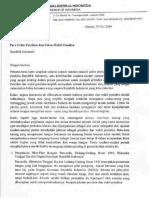 Surat KWI Untuk Capres