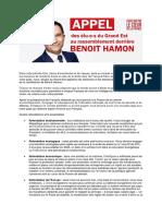 200 élus PS du Grand-Est soutiennent Benoit Hamon