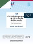 52º Curso Internacional de Hidrología Subterránea (2018)