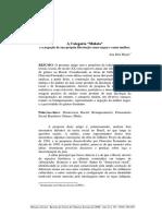 A Categoria 'Mulata' e a Negação de Sua Própria Libertação Como Negra e Como Mulher. Meyer Ana Rita. on Line 250 267(2)