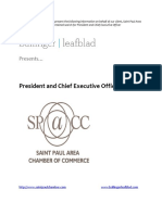 Executive Position Profile - Saint Paul Area Chamber of Commerce - President and CEO