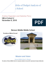 electronic portfolio of budget analysis of  benson middle school  1