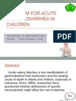 Selenium for Acute Watery Diarrhea in Children