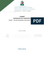 CAM0800 - Aula 02 - Eng. Dos Transportes - Visão Geral e Conceitos