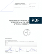 PTE-ICI-003 Rev 1 Procedimiento Para Pruebas de Resistencia de Aislamiento (Pruebas Megger) Comentarios OK