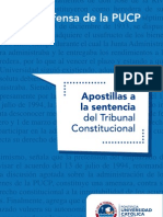 Apostillas a La Sentencia Del Tribunal Constitucional